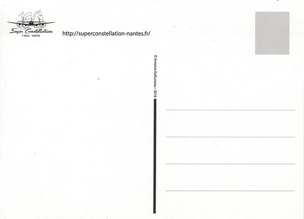 Carte postale Super Constellation verso