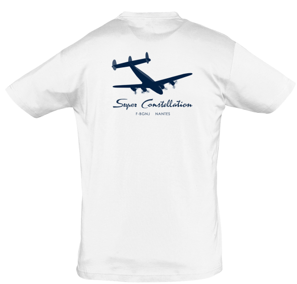 Tee Shirt Super constellation Blanc dos