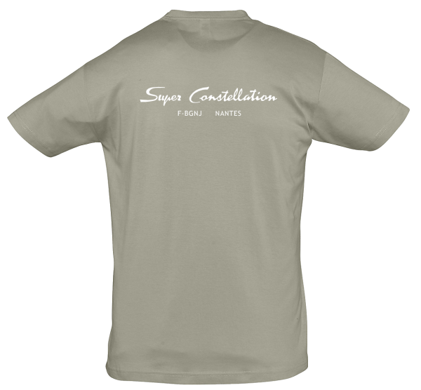 Tee Shirt Super constellation gris dos