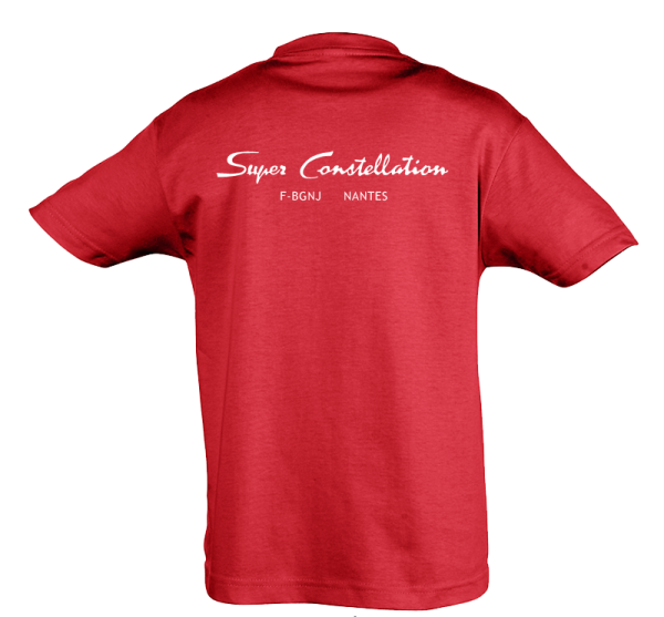 Tee Shirt Super constellation rouge dos