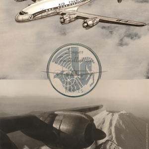 Affiche Super Constellation 40x60 Mont Fuji